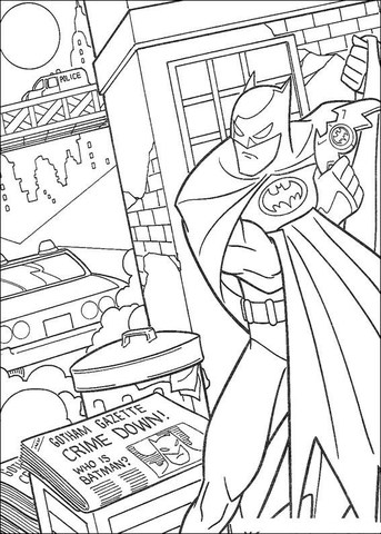 foto do Batman para colorir