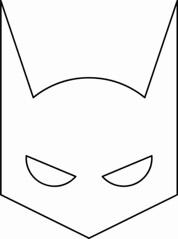 ideia de mascara do Batman para colorir