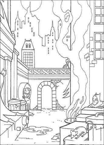 imagem para colorir Batman