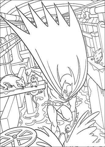 imagem para colorir do Batman