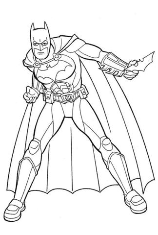 lindo desenho Batman para colorir