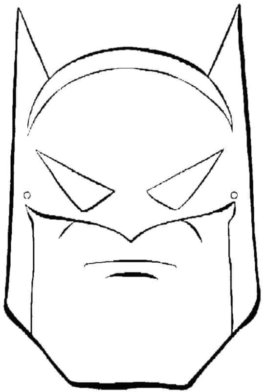mascara batman para pintar