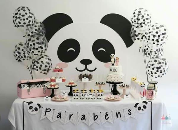 mesversario tema panda