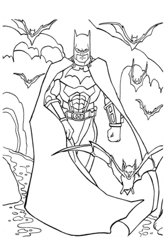 modelo de desenho do Batman para colorir