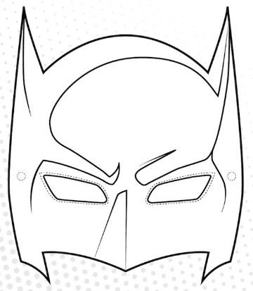 pequena mascara do Batman para colorir