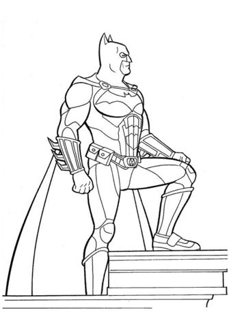 pose do batman para colorir