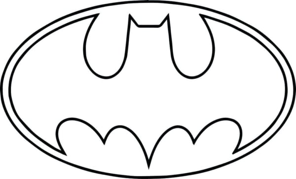 símbolo do Batman para colorir