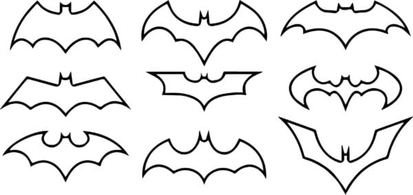 símbolos Batman para colorir