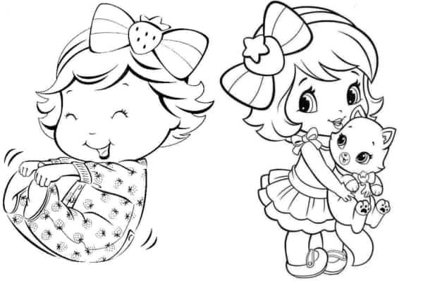 desenhos da Moranguninho baby para imprimir e pintar