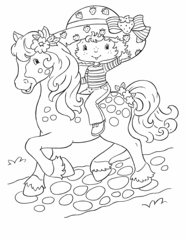 desenho da Moranguinho de cavalo para colorir