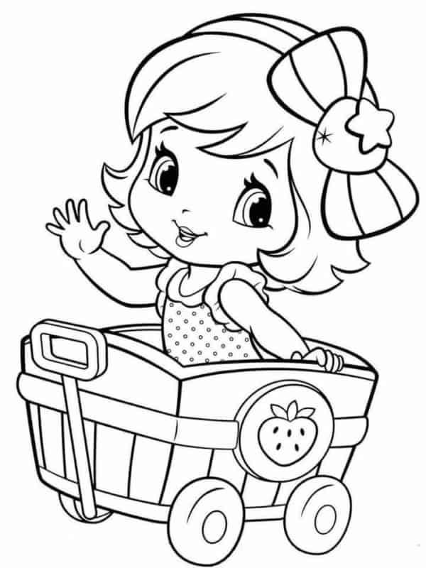 desenho Moranguinho baby para colorir