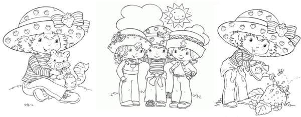 desenhos da Moranguninho antiga para imprimir e colorir