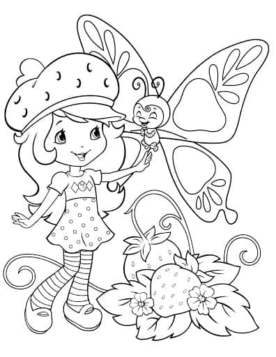 desenho da Moranguinho para imprimir grátis