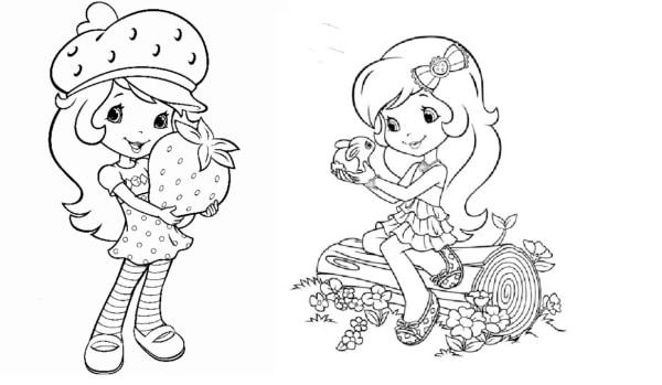 desenhos da Moranguninho nova para imprimir e colorir