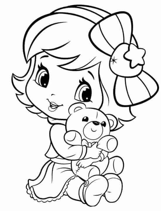 desenho simples da Moranguinho baby para pintar