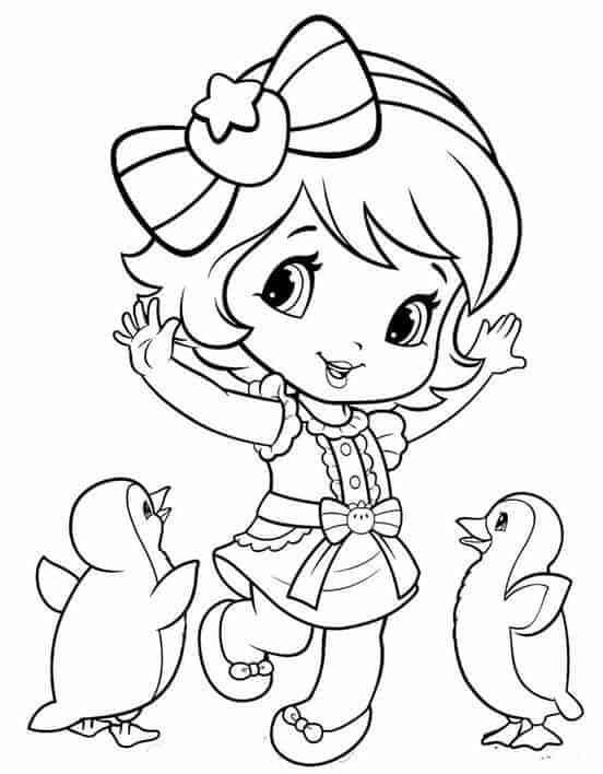 desenho para imprimir grátis da Moranguinho baby