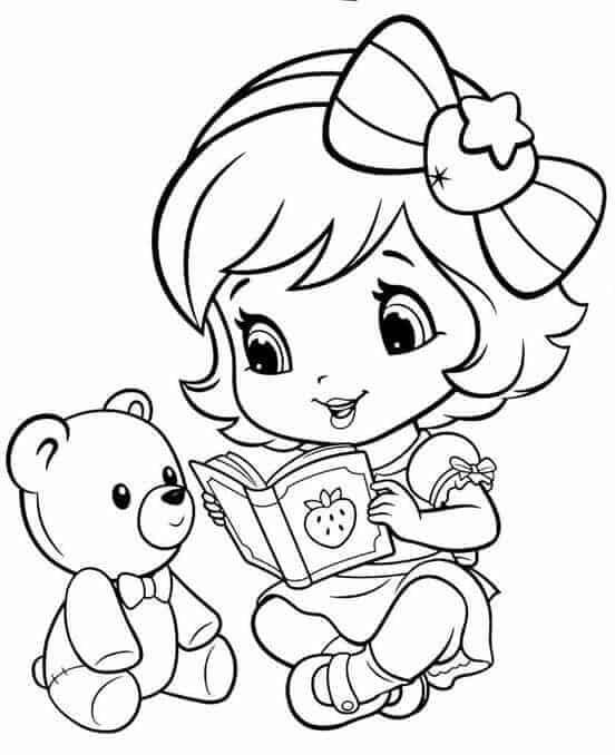 desenho para pintar da Moranguinho bebê