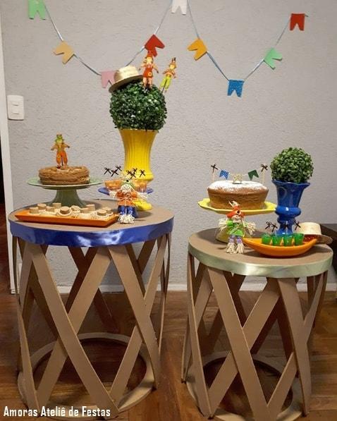 decoração de mesversário festa junina em casa