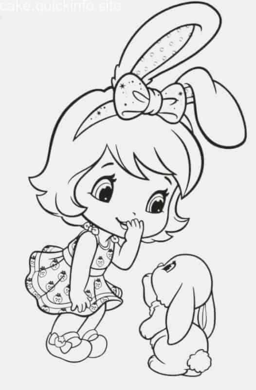 desenho para imprimir e pintar da Moranguinho baby