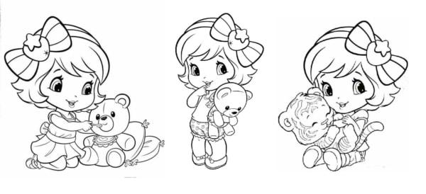 desenhos da Moranguninho bebê para imprimir e colorir