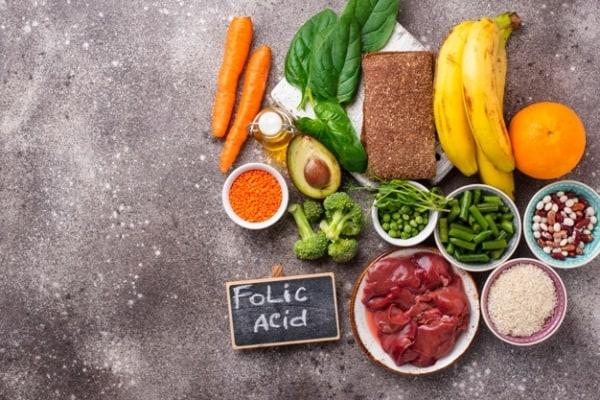 Alimentos com vitamina B9