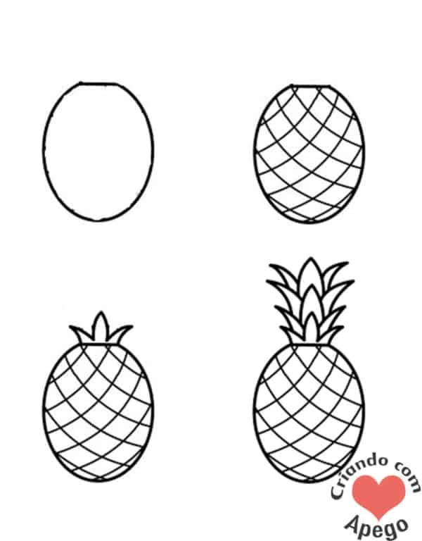 Desenhos fáceis abacaxi