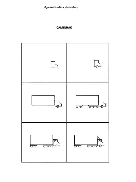 Desenhos fáceis caminhão