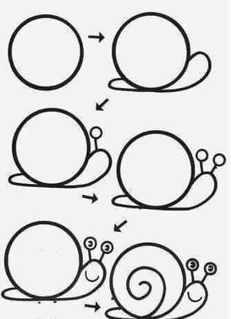 Desenhos fáceis caracol