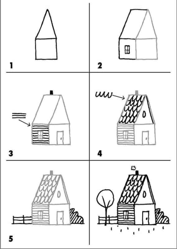 Desenhos fáceis casa