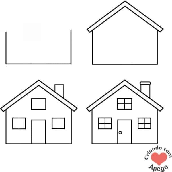 Desenhos fáceis casas