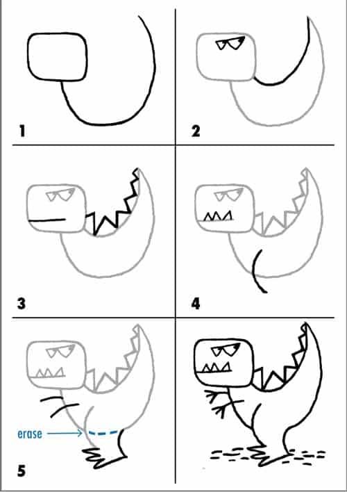 Desenhos fáceis dinossauro