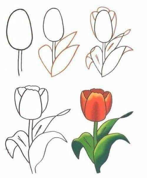 Desenhos fáceis flores