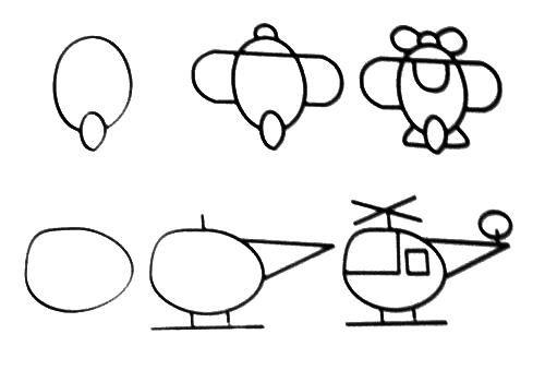 Desenhos fáceis helicoptero