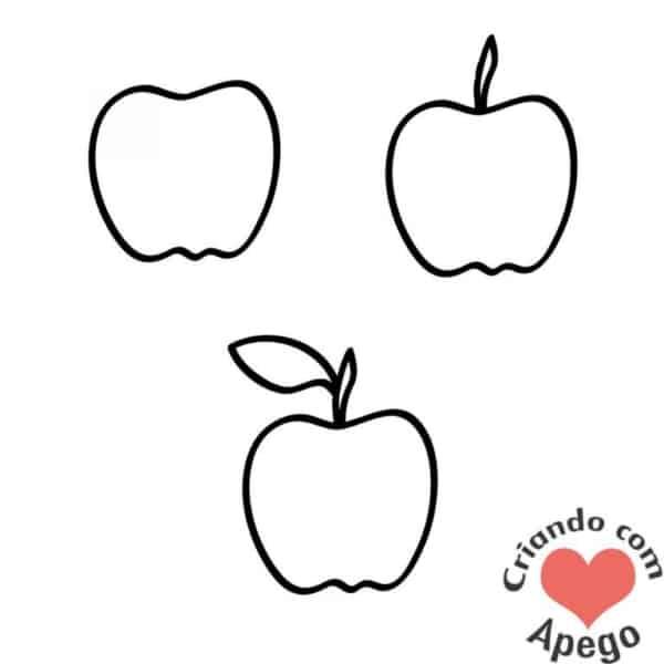 Desenhos fáceis maçã