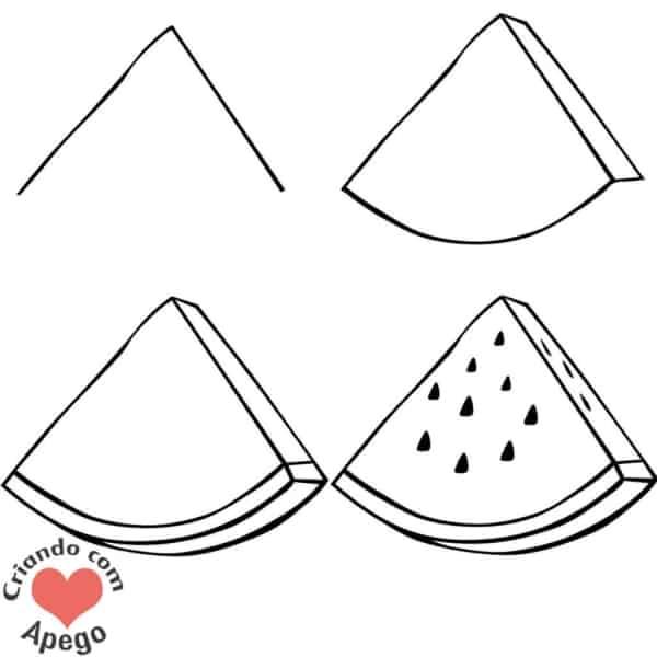 Desenhos fáceis melancia