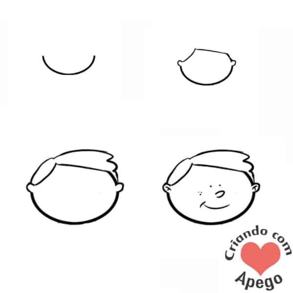 Desenhos fáceis menino