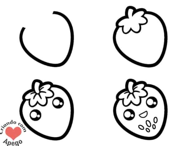 Desenhos fáceis morango
