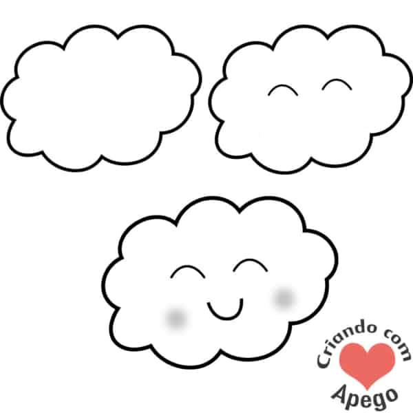 Desenhos fáceis nuvem