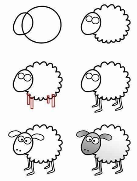 Desenhos fáceis ovelha
