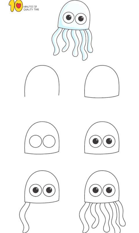 Desenhos fáceis polvo