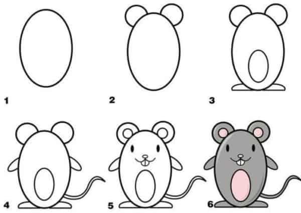 Desenhos fáceis ratinho