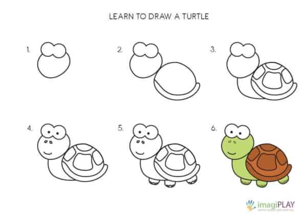 Desenhos fáceis tartaruga
