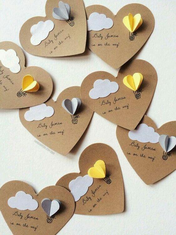 Tag de coração para maternidade