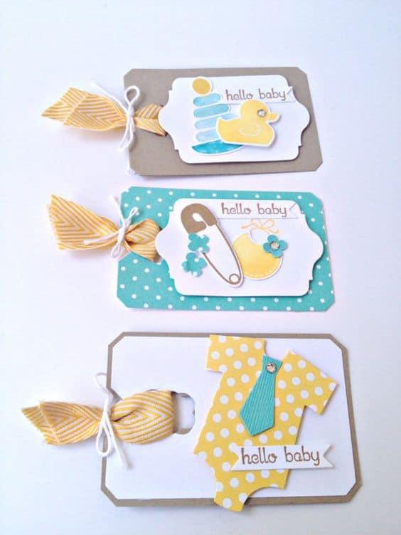 Três modelos de tags para maternidade