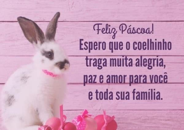 mensagens de Páscoa para crianças coelhinho branco