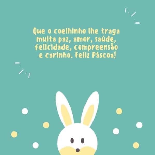 mensagens de Páscoa para crianças coelhinho