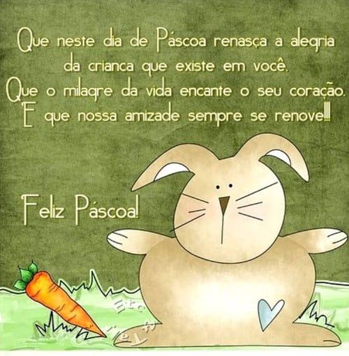mensagens de Páscoa para crianças com cenoura