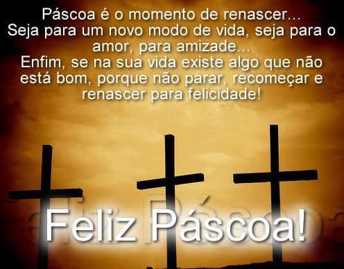 mensagens de Páscoa para crianças com cruz 2