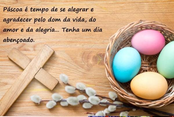 mensagens de Páscoa para crianças com cruz