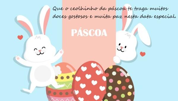 mensagens de Páscoa para crianças com ovos